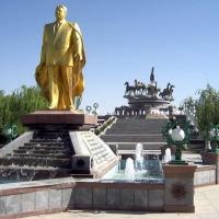 Ashgabat, Golden Statue of Saparmurat Niyazov