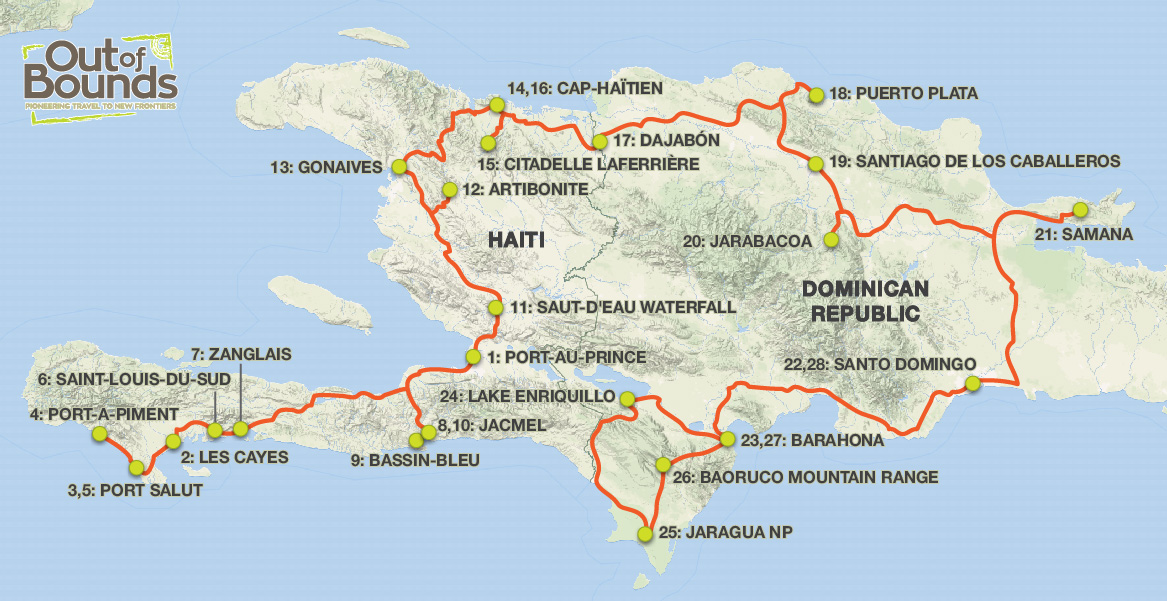 The island of hispaniola an overland journey through haiti the the island of hispaniola an overland journey through haiti the dominican republic 2019 tour gumiabroncs Choice Image