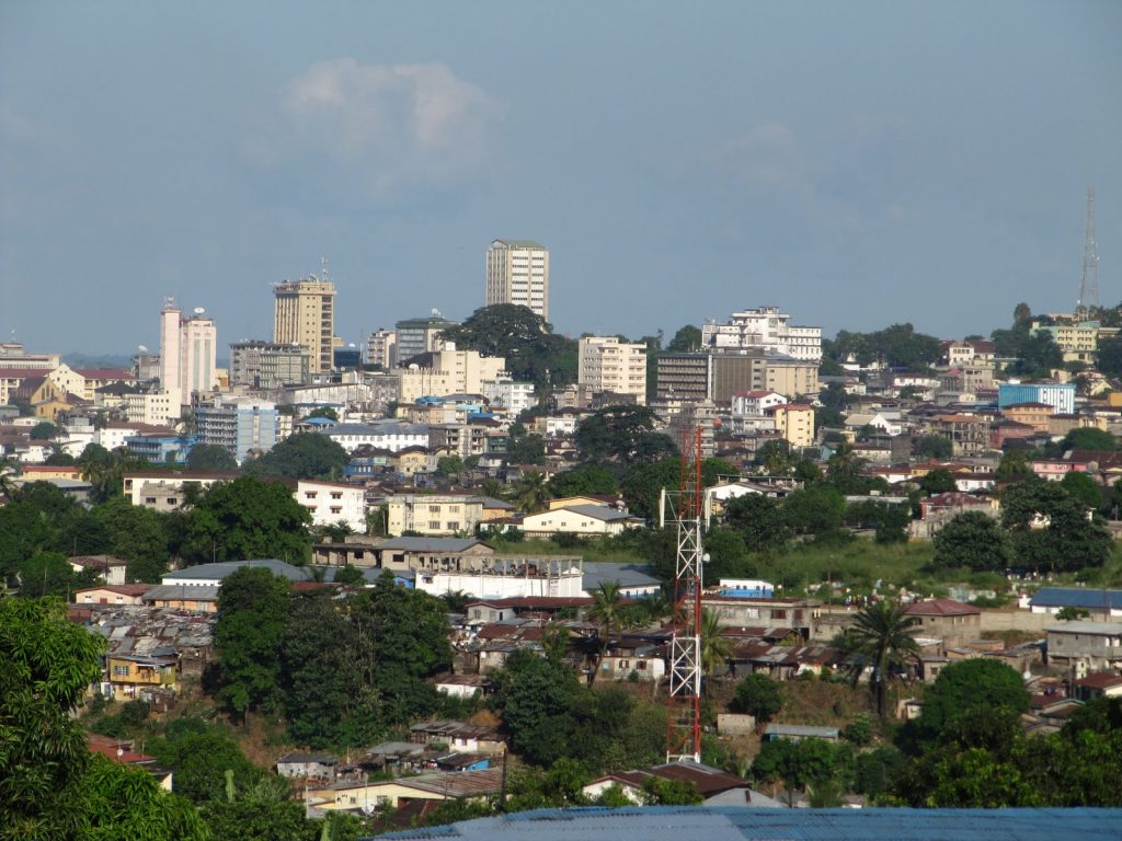 Downtown Freetown - View from the balcony of our guesthouse