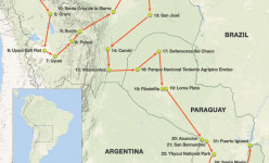 Bolivia & Paraguay: An Exploration of South America's Last Frontiers 2019 Tour Route