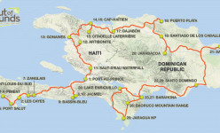 The Island of Hispaniola: An Overland Journey Through Haiti & the Dominican Republic 2019 Tour Route