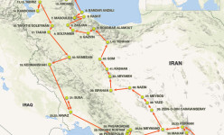 Iran Encompassed: Overland Through Ancient Persia Tour Route