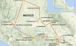 Colonial Cities of Central Mexico 2019 Tour Route