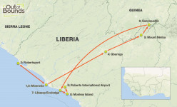 Liberia Uncovered Tour Route