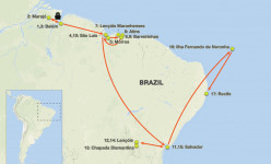Northeast Brazil: From the Amazon to the Tropics 2019 Tour Route