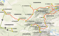 Pamir Highway & The 'Stans: An Overland Adventure Through Tajikistan, Kyrgyzstan, Kazakhstan, Uzbekistan & Turkmenistan 2021 Tour Route